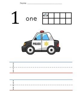 Community Helper Number Practice {Numbers 1-5 Writing & Counting Worksheets}