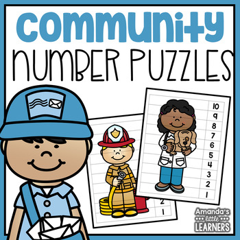 Number Puzzles - Community Helper Themed