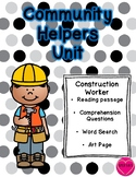 Community Helper Packet - Construction Worker