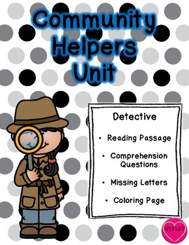 Community Helper Packet - Detective