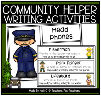 Community Helper Packet for Writing and Centers (Community