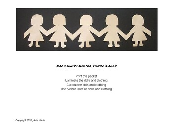 Community Helper Paper Dolls