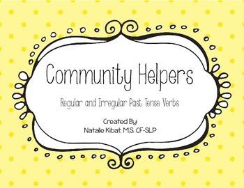 Community Helper Past Tense Verb Activity