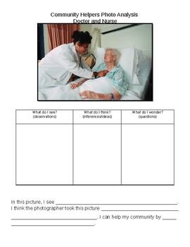 Community Helper Photo Analysis- Doctor or Nurse