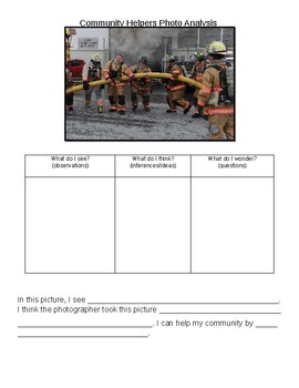 Community Helper Photo Analysis- Firefighter