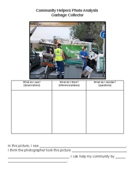 Community Helper Photo Analysis- Garbage Collector