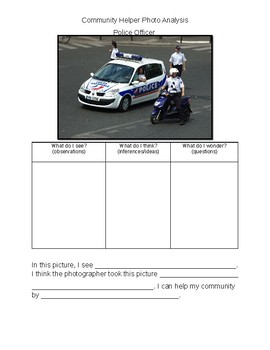 Community Helper Photo Analysis- Police
