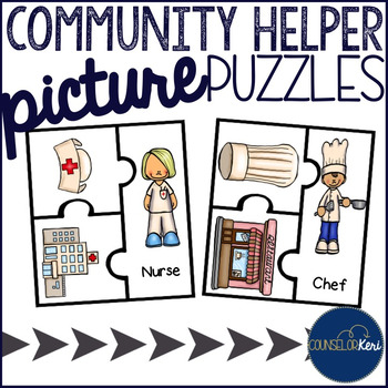 Community Helper Picture Puzzles for Early Career Development
