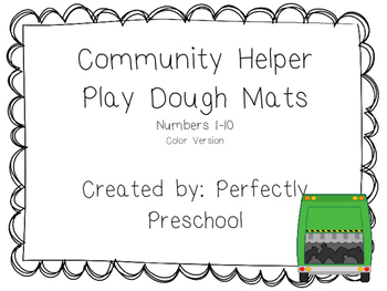 Community Helper Play Dough Mats {Color}