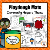 Community Helper Playdough Mats