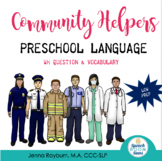 Community Helper Preschool Language Packet