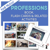 Professions Book, Flash Cards, & Related Activities