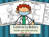 Community Helper Tools Label It & Puzzle Parts Activity (Set of 13)