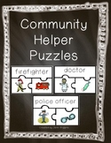 Community Helper Puzzles ~ 18 Puzzles plus Follow Up Activities