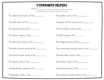 Community Helper Puzzles