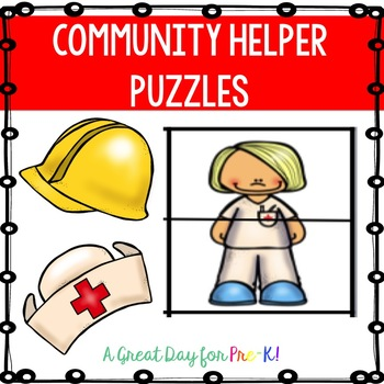 Community Helper Puzzles FREEBIE for Preschool, Prek, and Kindergarten
