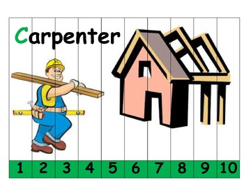 Community Helper Puzzles from 1 to 10