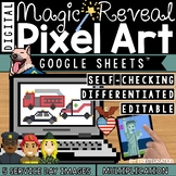 Community Helper & Service Day Digital Pixel Art Magic Rev