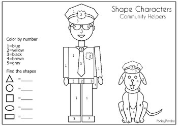 Community Helper Shape Characters Find And Count The