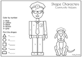 Community Helper Shape Characters (find and count the shap
