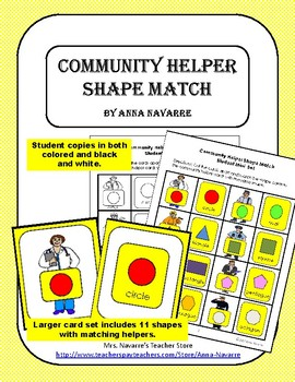 Community Helper Shape Match