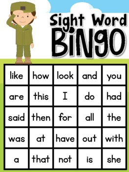 Community Helper Sight Word Bingo