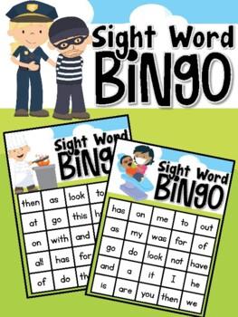 Community Helper Sight Word Bingo