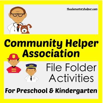 Community Helper Sorting File Folder Activities for Presch