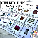 Community Helper Sorting Pages Activity