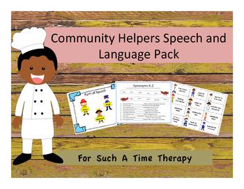 Community Helper Speech and Language Pack