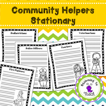 Community Helper Stationary