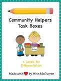Community Helper Task Boxes