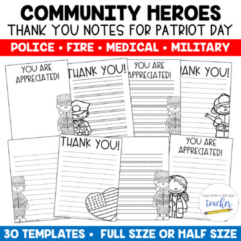 Community Helper Thank You Notes {Patriot Day}