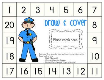 Community Helper Theme: Draw & Cover Numbers