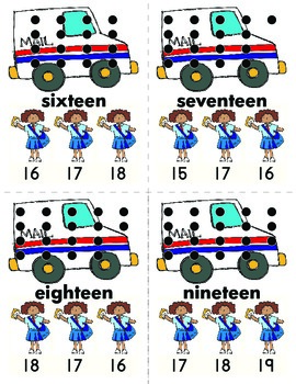 Community Helper Theme - Number Clips: 0 to 20