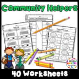 Community Helper Themed Kindergarten Math and Literacy Worksheets And Activities