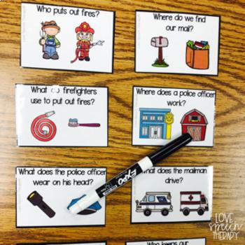 Kid Helpers in the Community - Jumbo Puzzles & Activities