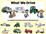 Community Helper Vehicles Adapted Interactive Book Special Education, Autism