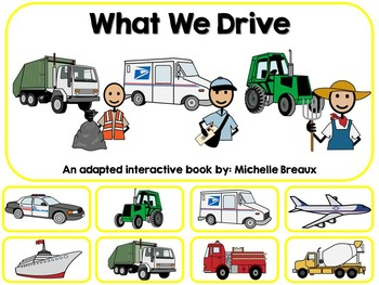 Community Helper Vehicles Adapted Interactive Book Special