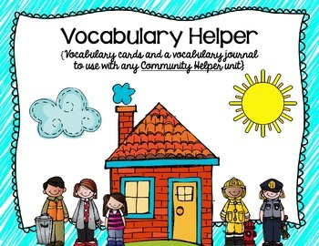 Community Helper Vocabulary Cards and Journal