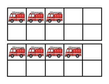 Community Helper Week Fire Truck 10-Frames