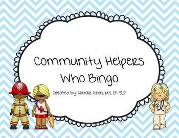 Community Helper Who Question Bingo