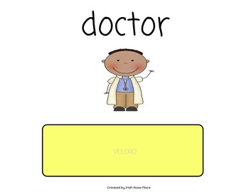 Community Helper Word Book (Adapted Book)