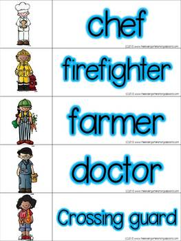 Community Helper Vocabulary Cards