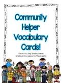 Community Helper Vocabulary Cards FREEBIE!