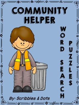 Community Helper Word Search Puzzles