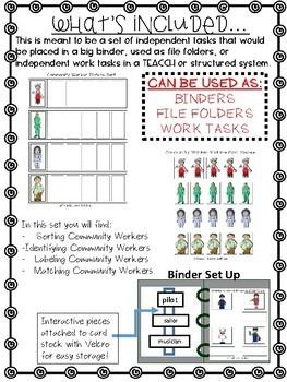 Community Helper/Worker ONLY Work Tasks or File Folders