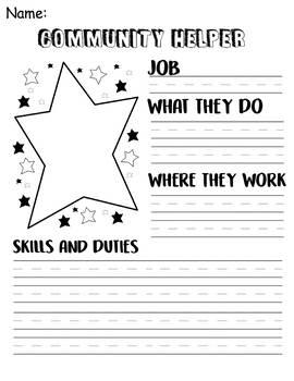 Community Helper Worksheet - Social Studies