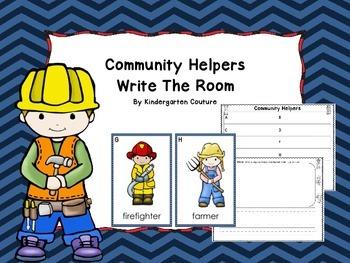 Community Helpers - Write The Room