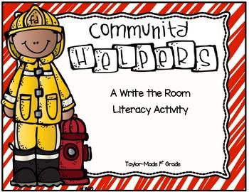 Community Helper Write the Room Activity